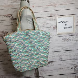 Gorgeous woven leather tote bag